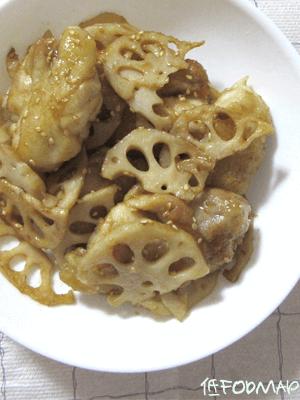 鶏肉とれんこんのバター炒めの画像