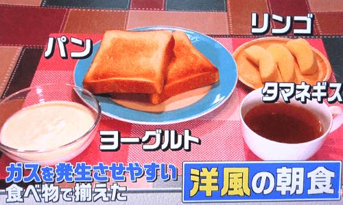 洋風の朝食の写真