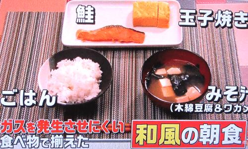 和風の朝食の写真