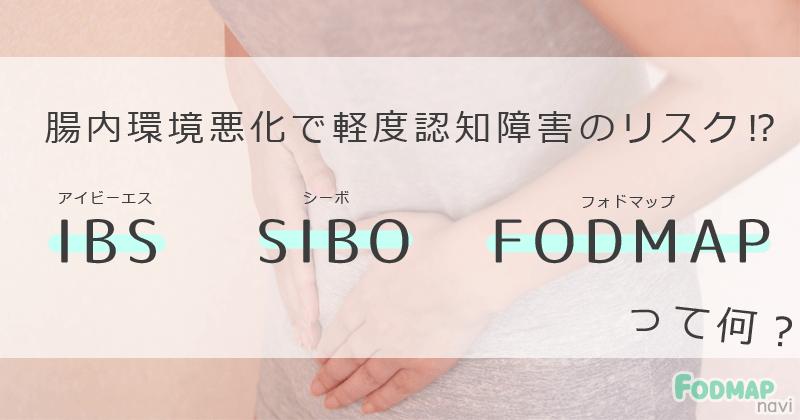 【ミヤネ屋】腸内環境悪化で軽度認知障害のリスク⁉IBS(過敏性腸症候群)・SIBO・FODMAPとは?のキャッチ画像